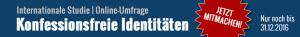Online-Befragung: Konfessionsfreie Identitäten